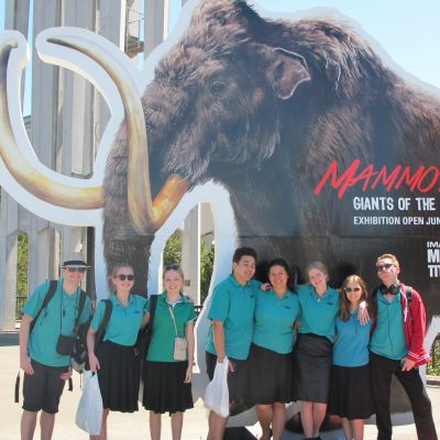 group with mammoth